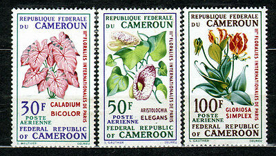 Cameroon 1969 Mi 569-571 Flower Exhibition - MNH