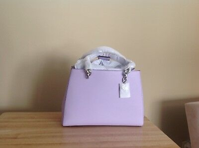 87d656059019b4 Michael Kors Cynthia Medium Saffiano Leather Satchel Light Quartz Purple  Silver