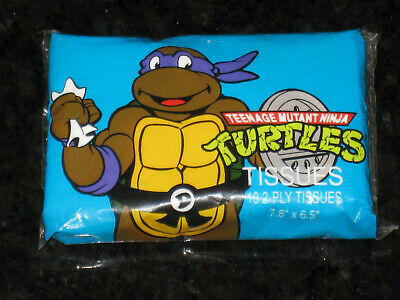 Original packet of Teenage Mutant Ninja Turtles Tissues 1990 TMNT sealed