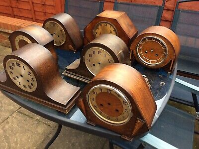 collection Of Vintage Mantel Clock Cases