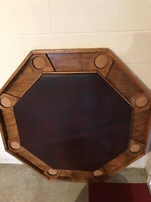 Poker Table Premium Solid Wood 8 Player(NO SHIPPING, PICK UP ONLY).
