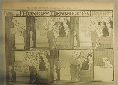 Hungry Henrietta by Winsor McCay from 4/9/1905 ! Half Page Size! 11 x 15 inches