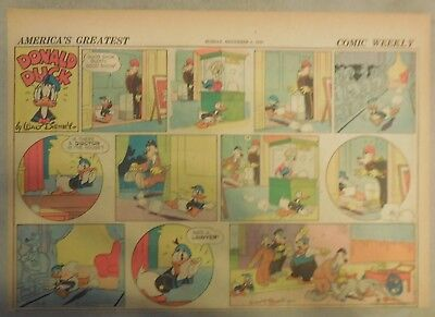 Donald Duck Sunday Page by Walt Disney from 11/3/1940 Half Page Size