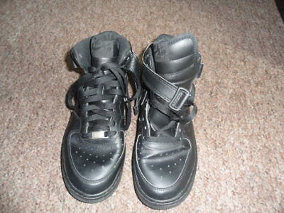 sports shoes ab056 af147 Gorgeous Black Leather Nike Air Force 1 High Top Trainers Size 5.5