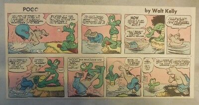 Pogo Sunday by Walt Kelly from 5/25/1958 Third Page Size!