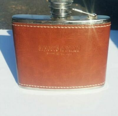 Very Rare STAINLESS STEEL Whisky Bottle Pocket Flask Wine MADE IN SPAIN 4oz