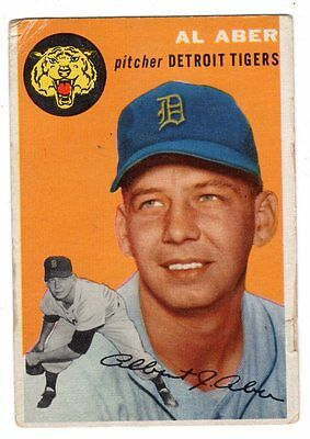 1954 Topps #238 Al Aber - Detroit Tigers, Very Good Condition