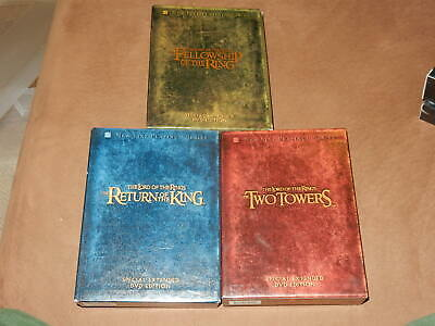 Lord Of The Rings Trilogy Dvd 12-Disc Extended Bookshelf Edition Region 1 Oop