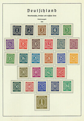 (21059) GERMAN EMPIRE- American and British zone 1946/1950, lot mainly MNH