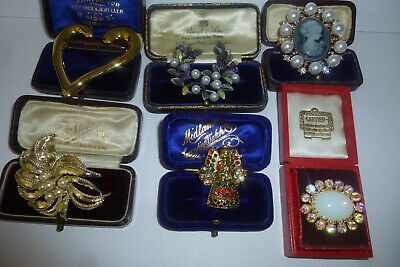 Vintage Jewellery A Very Nice Mixed Job Lot Of Brooches Pins Various Eras