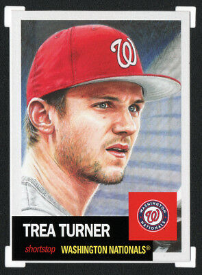 2018 Topps Living Set #134 TREA TURNER Nationals • SOLD OUT Print Run 3402