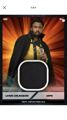 Topps Star Wars Card Trader Marathon 2019 Digital Swatch Lando Orange