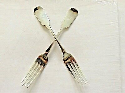 Pair of Antique S/S F/B Table Forks by Stokes & Ireland 1892 Overstamped by C B