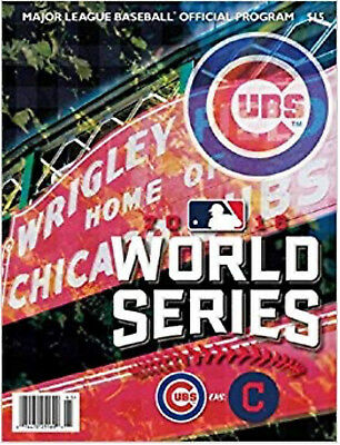 Lot of 5 Brand New Chicago Cubs Cleveland Indians World Series Programs