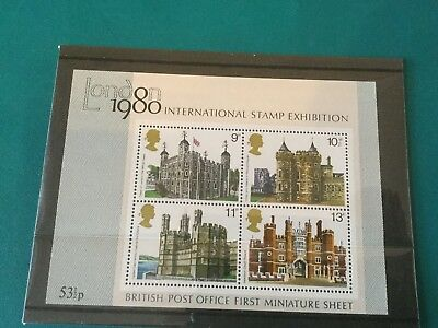 1978 Architecture Buildings GB Miniature Sheet of Stamps MNH - Mini sheet No. 1