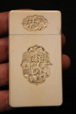Antique Chinese Cantonese Carved Card Case