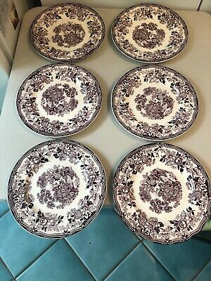 Royal staffordshire tonquin Plum 7 7/8 salad plates (6) in your order