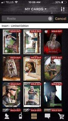 Topps The Walking Dead Card Trader Digital Account RARE OLDER CARDS!
