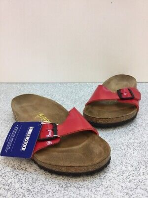 Birkenstock Madrid Tango Red Patent Buckle Slide Sandals Women s Size 40 bf7247d42ff