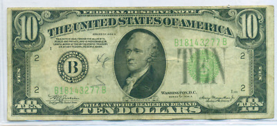 1934 A $10 Federal Reserve Note New York District