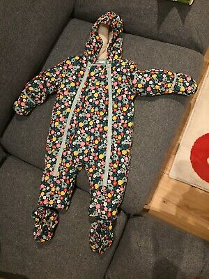 Baby Boden baby girl fleece lined snowsuit 6-12 months.