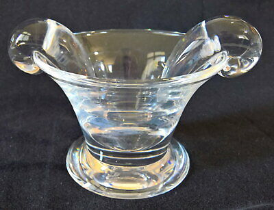 Vintage Steuben Glass Original Olive Dish #7801, Design by James McNaughton 1937