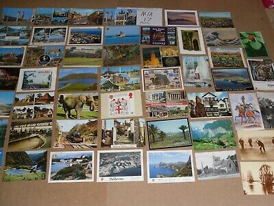200 Mix Bulk Job Lot Of Old Foreign & Uk Postcards - Posted & Un Posted