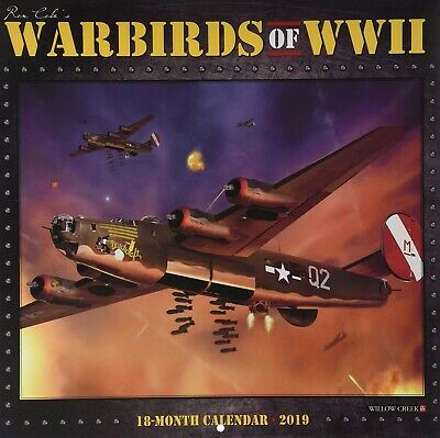 2019 Ron Cole's WARBIRDS OF WWII 18-Month Wall Calendar - BRAND NEW!