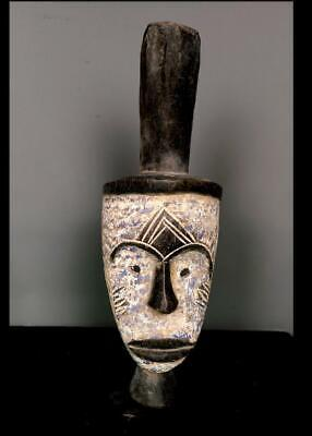 Outstanding   Tribal Unusual Fang   Mask With Horn        --  Gabon