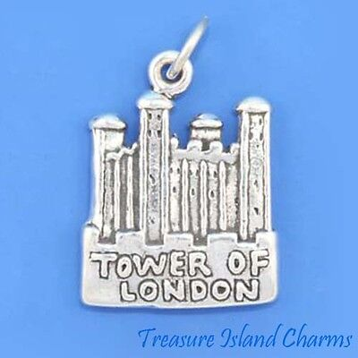 Tower of London England UK Royaume-Uni .925 Sterling Silver Charm Pendentif