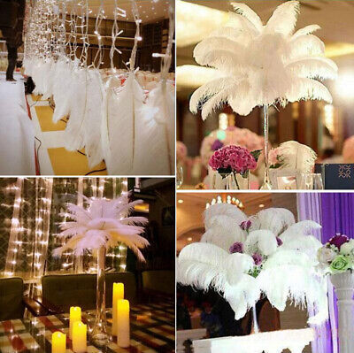 30-35cm Large Ostrich Feathers Costume Birthday Wedding Party Decoration 5pcs