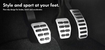 Manual Audi Stainless Steel Pedal Covers - Fits: A1, A3, A4, A5, A6, A7, TT, TTS