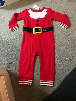 87a8cf3ca Gymboree Santa outfit North Pole baby boy or girl one piece 12-18 months NWT