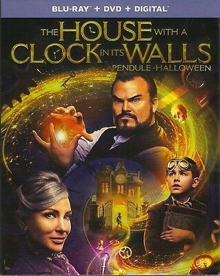 THE HOUSE WITH A CLOCK IN ITS WALLS BLURAY & DVD & DIGITAL SET with Jack Black