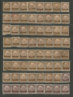FEB 124 Luxembourg - Occup. Deutsches Reich Hindenburg 3 & 10Pf. USED/MH stamps