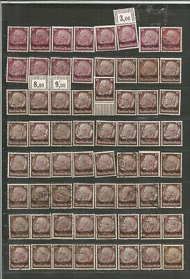 FEB 126 Luxembourg - Occup. Deutsches Reich Hindenburg 15 & 10Pf. USED/MH stamps