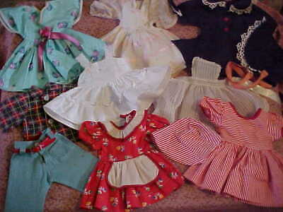 "Lot Vintage 1950's Factory Clothing For 17-20"" Hard Plastic Doll/Some Sweet Sue"