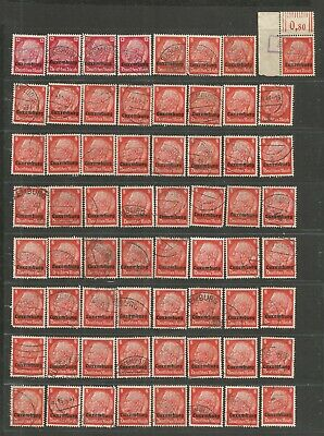 FEB 130 Luxembourg - Occup. Deutsches Reich Hindenburg 8 & 12Pf. USED/MH stamps