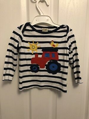 Frugi Tractor Top Age 12-18 Months In Good Condition