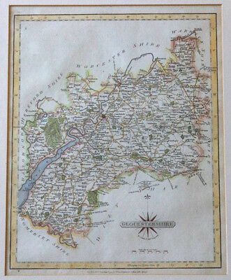 Antique Map of Gloucestershire by John Cary – 1797 Hand coloured original copper
