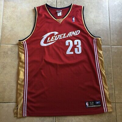 e5f13b7319b3 Lebron James Cleveland Cavaliers Reebok Authentic Jersey NBA Basketball Sz  52