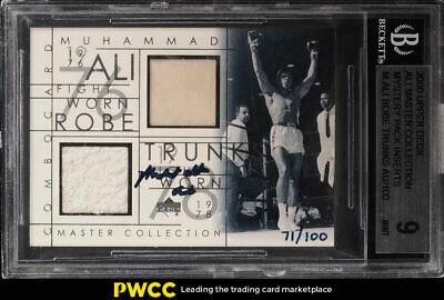 2000 UD Master Collection Mystery Pack Muhammad Ali AUTO PATCH /100 BGS 9 (PWCC)