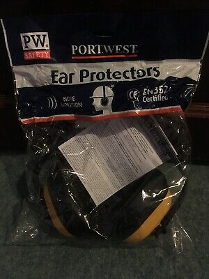 Classic Ear Protectors - Yellow Portwest PW40 New/Sealed Free P&P
