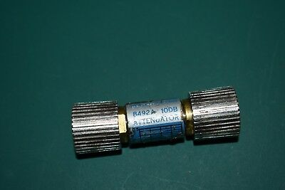 One Hewlett Packard Type APC7 10 dB Fixed RF Microwave Attenuator