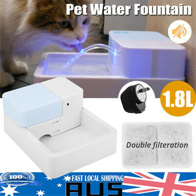 LED Automatic Electric Pet Water Fountain Dog Cat Drinking Bowl Waterfall Drink