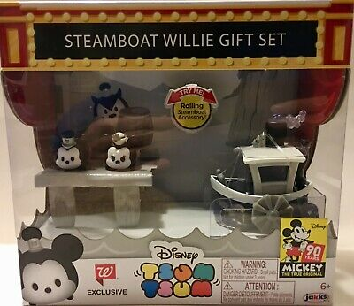 STEAMBOAT WILLIE 3 Piece Gift Set Disney TSUM TSUM Walgreens Exclusive with Boat
