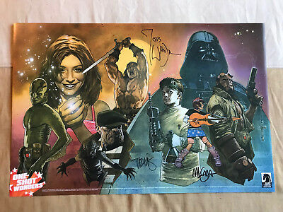 Dark Horse Comics Retailer Poster Signed By Joss Whedon + Mignola + Charest