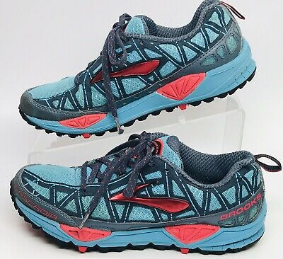 6c60c71a06e26 Brooks Cascadia 6 Trail Running Shoes Women s Size 6.5 Blue Red No Insoles