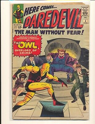Daredevil # 3 - 1st Owl Good+ Cond. water damage