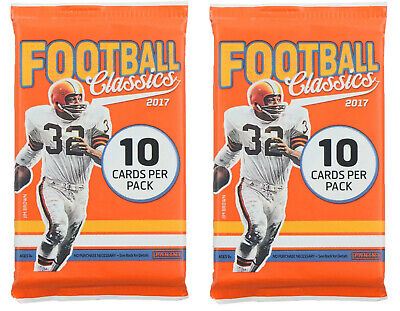 2 Packs - 2017 Classics Football-Unopened Sealed-10 Cards Per Pack-(20 Cards)